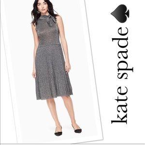 NWT Kate Spade Silver Metallic Knot Sweater Dress